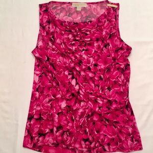 Michael Kors sleeveless Top Pink and Black